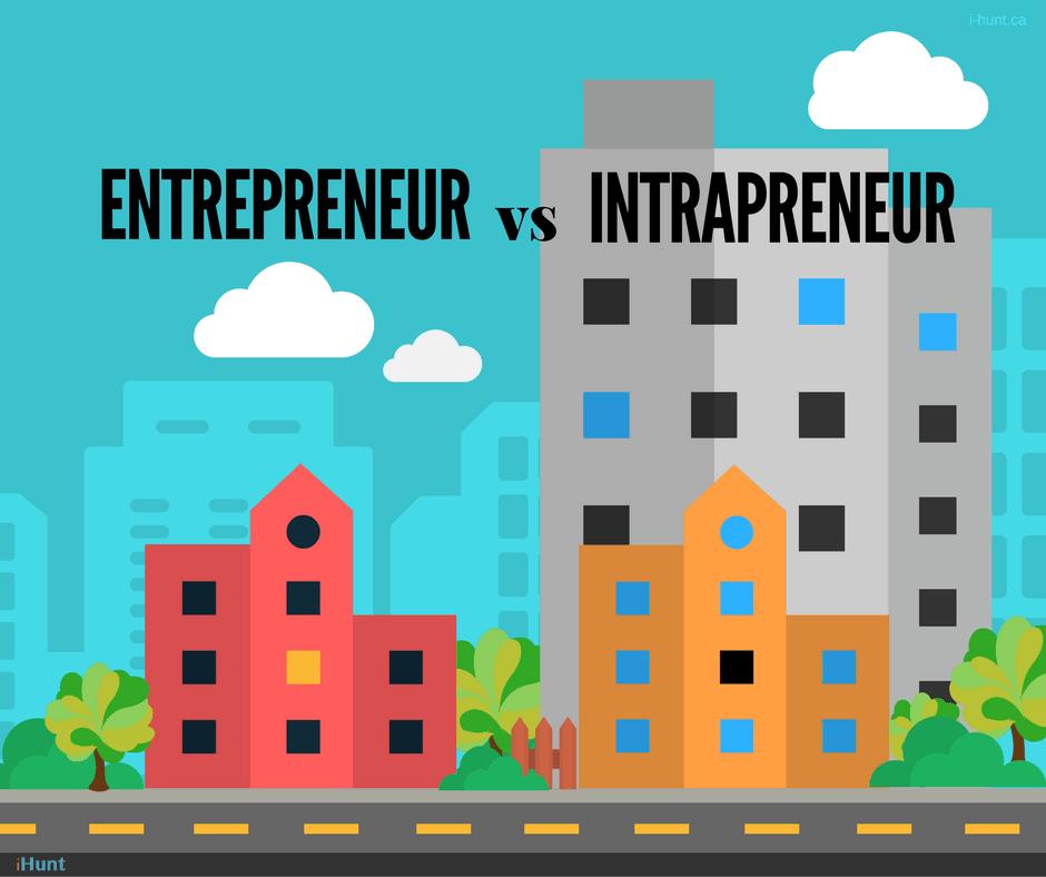 Différence entre les entrepreneurs et les intrapreneurs