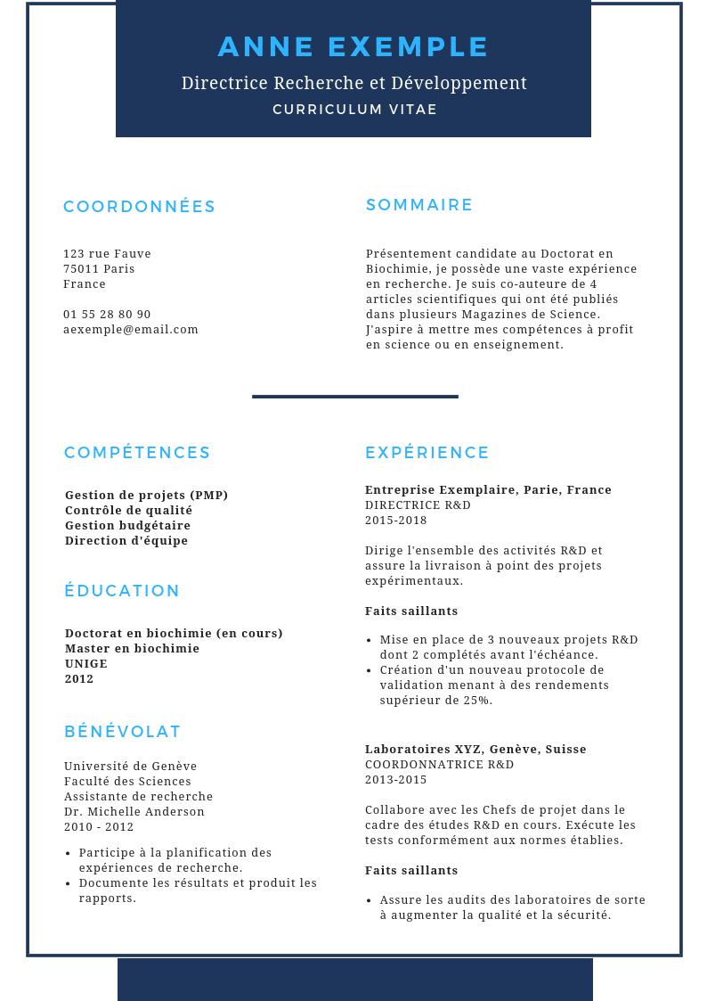 CV après modification