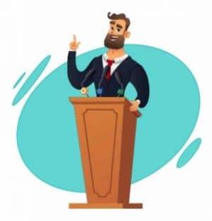 se préparer à faire un discours